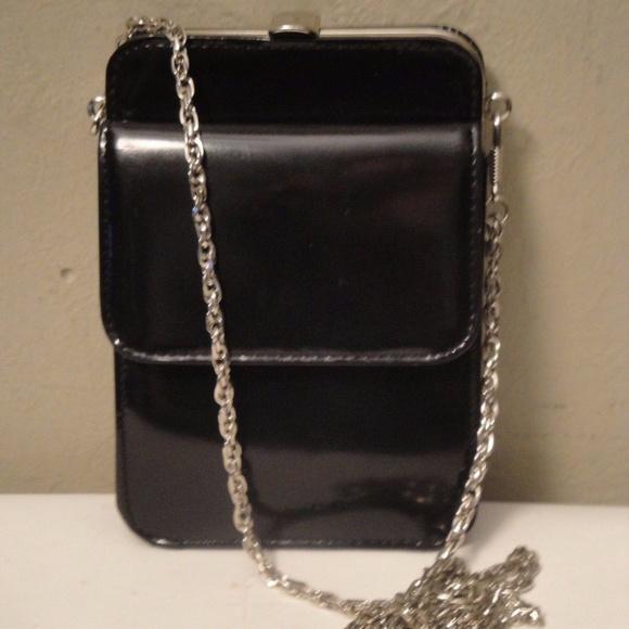 4be4c677159a Enzo Angiolini Bags | Black Leather Mini Shoulder Bag | Poshmark
